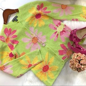 Northern Isles Floral Daisy Cardigan